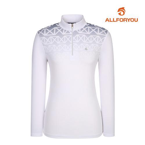 [올포유]여성 냉감소매 반집업 티셔츠 AWTHJ5116-100_G