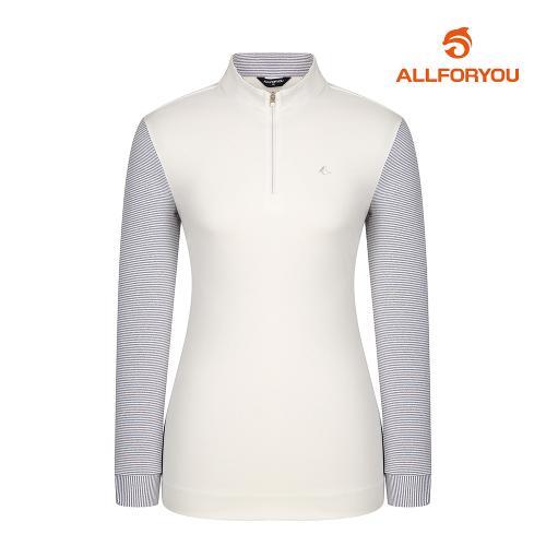 [올포유]여성 줄무늬 집업 티셔츠 AWTHJ5112-100_G