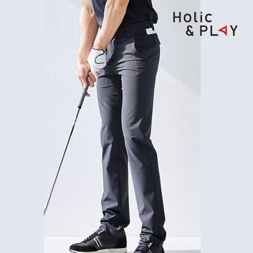 홀릭앤플레이 남성 UV 배색 골프바지 HA2MPT007BK