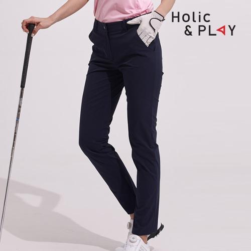 홀릭앤플레이 여성 뒷밴딩 슬림 골프바지 HA2WPT004NY