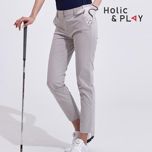 홀릭앤플레이 여성 매직 밴딩 골프바지 HA2WPT002GY