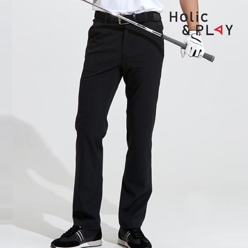 홀릭앤플레이 남성 매직밴딩 골프바지 HA2MPT001BK