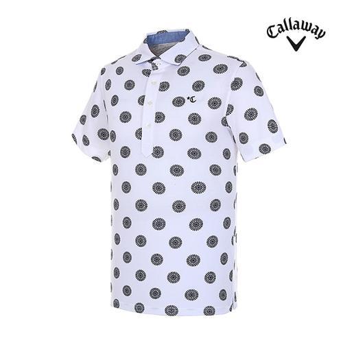 [캘러웨이]남성 서클 코튼 반팔 티셔츠 CMTYH3J04-100_G