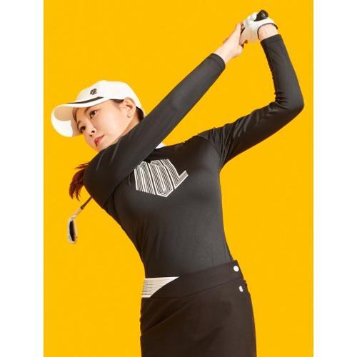 [빈폴골프] [NDL라인] 여성 블랙 로고 포인트 칼라 티셔츠 (BJ1141L465)