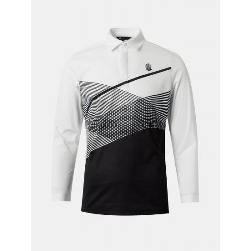[빈폴골프] [NDL라인] 남성 화이트 스포티 프린팅 칼라 티셔츠 (BJ1141M441)