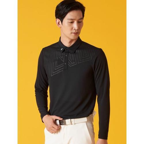 [빈폴골프] [NDL라인] 남성 블랙 사선 로고 칼라 티셔츠 (BJ1141M465)