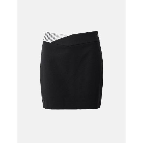 [빈폴골프] [NDL라인] 여성 블랙 배색 패턴 H라인 큐롯 (BJ1126L405)