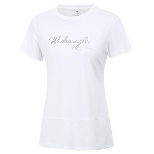 [와이드앵글] 여성 RANGE 라운드 반팔 티셔츠 L WWM20219W2