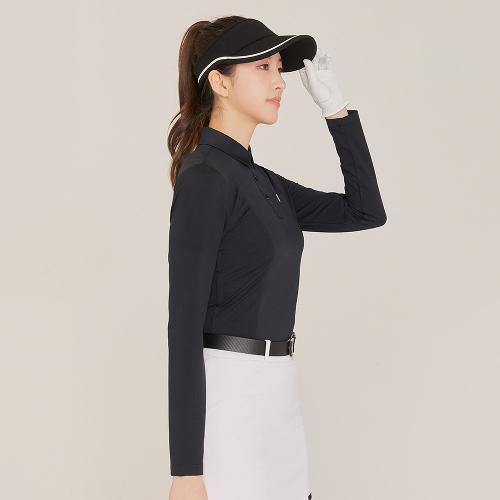 [레노마골프]21SS 여성 S라인 절개 카라 긴팔 티셔츠 RWTYK5155-199_G