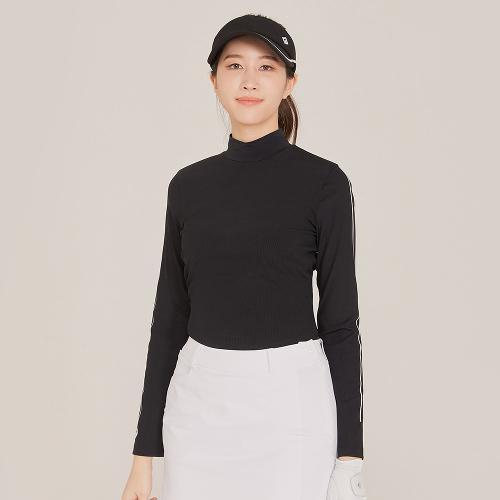 [레노마골프]21SS 여성 소매 포인트 골지 베이스레이어 티셔츠 RWTHK5104-199_G