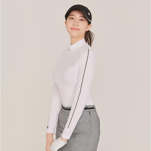[레노마골프]21SS 여성 소매 포인트 골지 베이스레이어 티셔츠 RWTHK5104-101_G