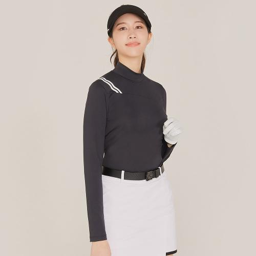 [레노마골프]21SS 여성 스포티 컬러블럭 하이넥 티셔츠 RWTHK5105-199_G