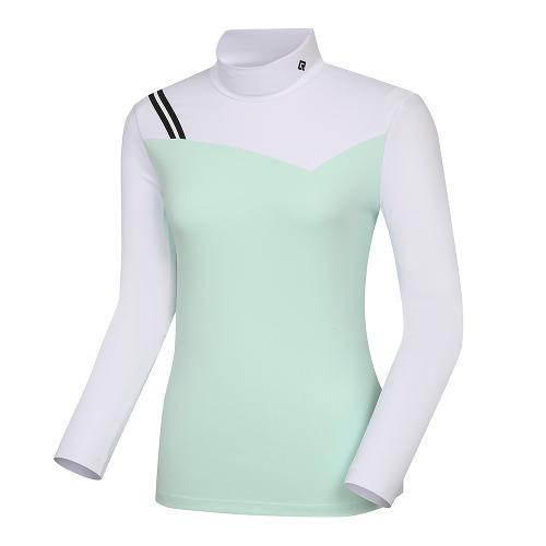 [레노마골프]21SS 여성 스포티 컬러블럭 하이넥 티셔츠 RWTHK5105-830_G