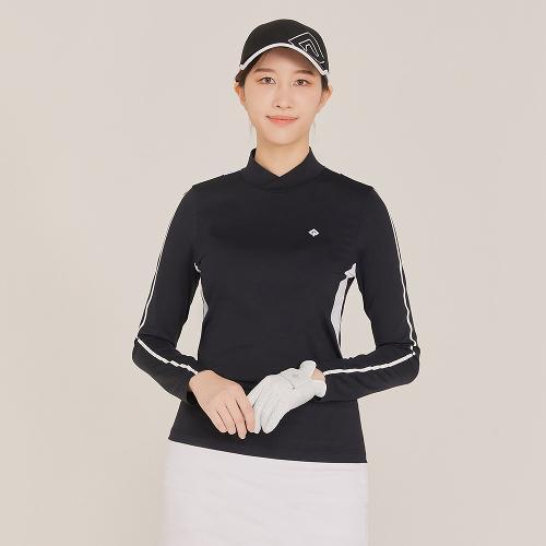 [레노마골프]21SS 여성 등판 배색 넥변형 하이넥 티셔츠 RWTHK5103-199_G
