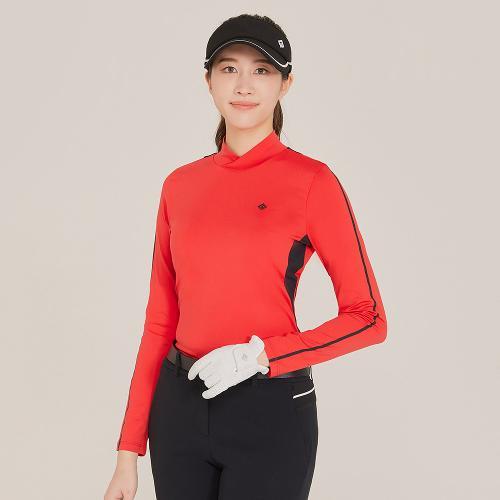 [레노마골프]21SS 여성 등판 배색 넥변형 하이넥 티셔츠 RWTHK5103-500_G