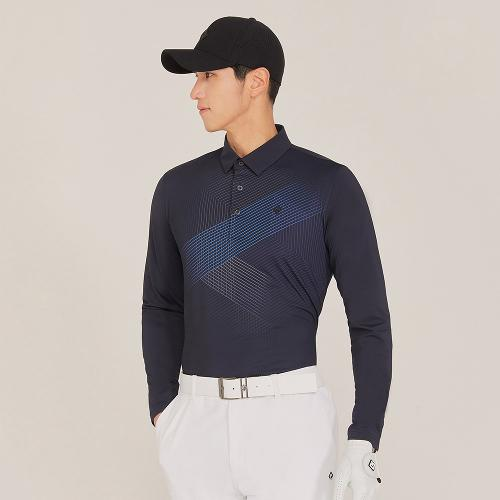 [레노마골프]21SS 남성 앞판 패턴포인트 카라 티셔츠 RMTYK1155-199_G
