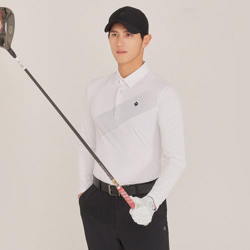 [레노마골프]21SS 남성 앞판 패턴포인트 카라 티셔츠 RMTYK1155-101_G