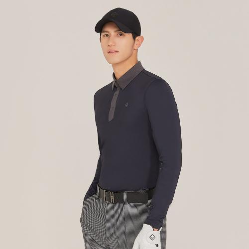 [레노마골프]21SS 남성 등판 절개 라인 포인트 카라 티셔츠 RMTYK1103-199_G