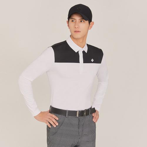 [레노마골프]21SS 남성 반전 배색 카라 티셔츠 RMTYK1104-101_G