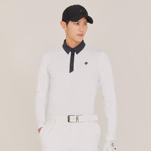 [레노마골프]21SS 남성 등판 절개라인 포인트 카라 티셔츠 RMTYK1103-101_G