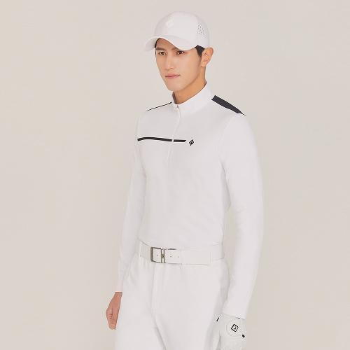 [레노마골프]21SS 남성 등판 절개라인 포인트 반집업 티셔츠 RMTHK1102-101_G
