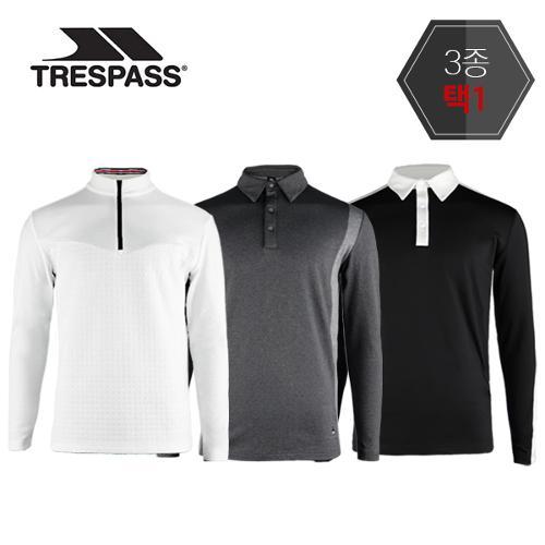 트레스패스 소프트웜 기모티셔츠 3종택1