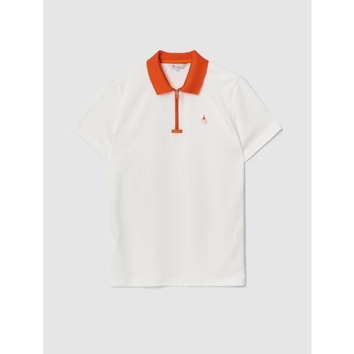 [빈폴골프] 여성 아이보리 배색 칼라 반집업 티셔츠 (BJ1342A140)