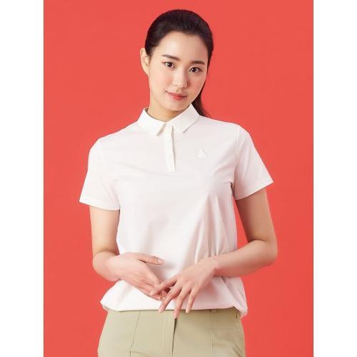 [빈폴골프] 여성 아이보리 우븐 믹스 스트링 칼라 티셔츠 (BJ1342A160)