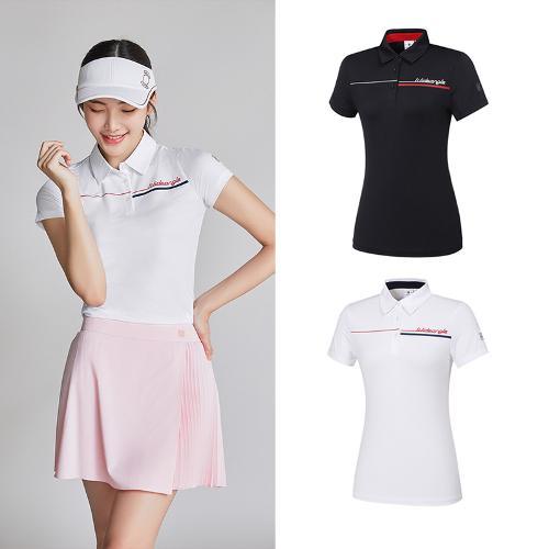 [와이드앵글] 여성 ONEX_캘리그라피 반팔 티셔츠 2종택1