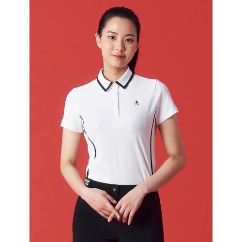 [빈폴골프] 여성 화이트 라인 티핑 칼라 티셔츠 (BJ1342OA11)
