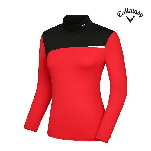 [캘러웨이]21SS 여성 컬러 블럭 하이넥 티셔츠 CWTHK5142-500_G