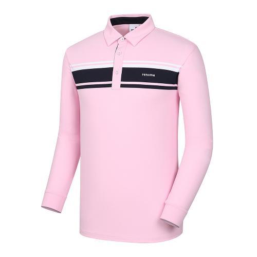 [레노마골프]남성 라인 배색 카라 티셔츠 RMTYI1107-403_G