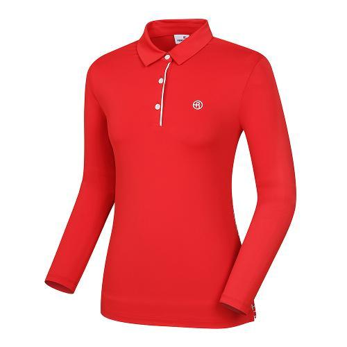 [레노마골프]여성 패턴 배색 카라 티셔츠 RWTYI5105-500_G