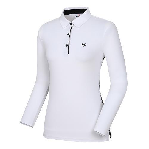 [레노마골프]여성 패턴 배색 카라 티셔츠 RWTYI5105-100_G