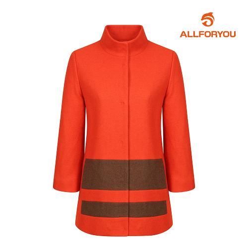 [올포유]여성 모혼방 컬러 블록 코트 AWCTH5R53-301_G
