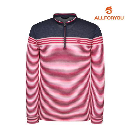 [올포유]남성 줄무늬 반집업 티셔츠 AMTHI1154-403_G