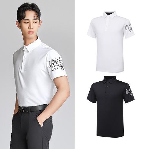 [와이드앵글] 남성 ONEX_캘리그라피 반팔 티셔츠 2종택1