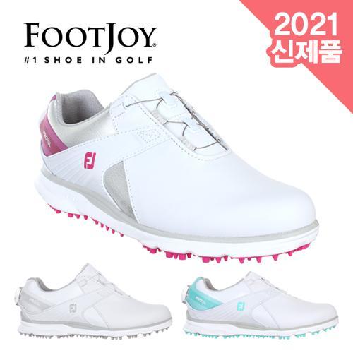 [2021년신제품]풋조이 PROㅣSL BOA 천연소가죽 여성용 골프화(#98119/#98123/#98121)