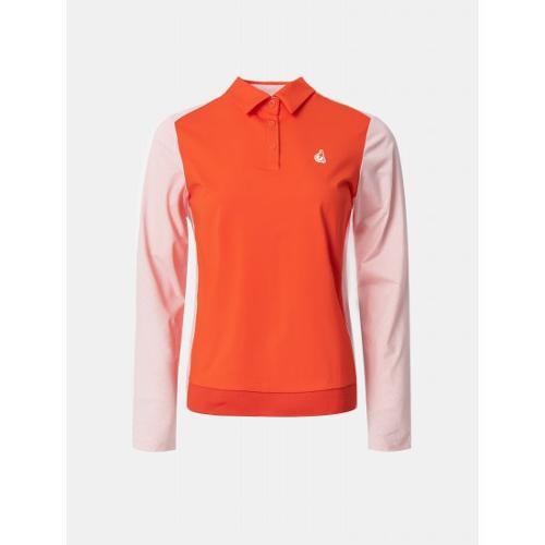 [빈폴골프] 여성 오렌지 투톤 블루종 올인원 티셔츠 (BJ1341A128)