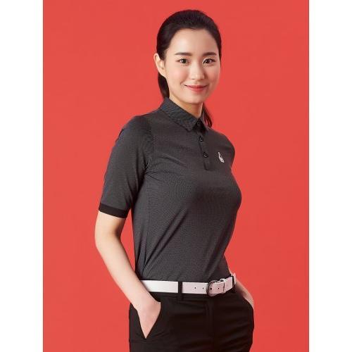 [빈폴골프] 여성 블랙 투톤 5부 칼라 티셔츠 (BJ1342A185)