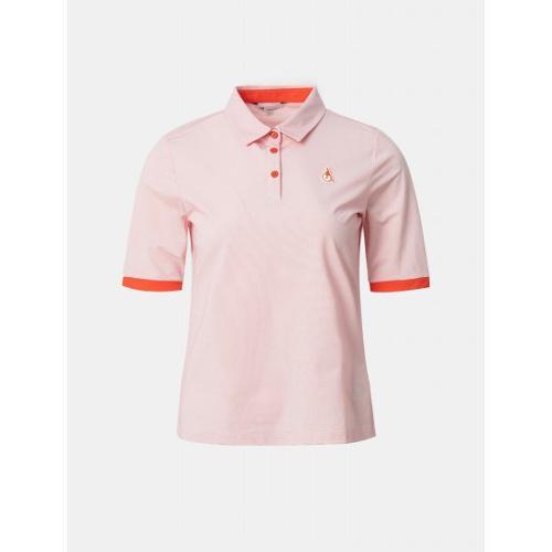 [빈폴골프] 여성 오렌지 투톤 5부 칼라 티셔츠 (BJ1342A188)
