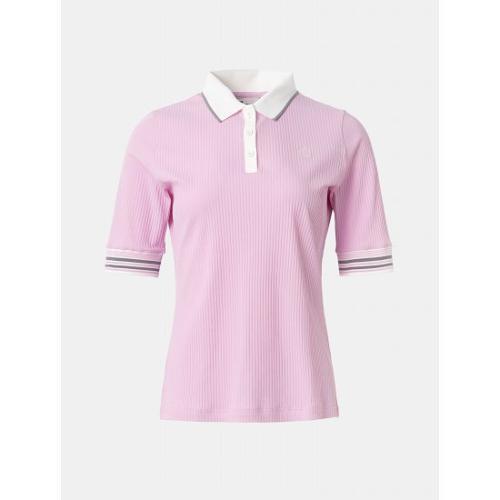 [빈폴골프] 여성 핑크 골지 5부 칼라 티셔츠 (BJ1342A10X)