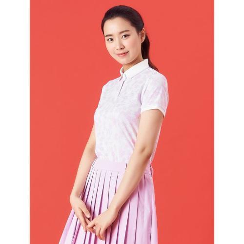 [빈폴골프] 여성 핑크 플라워 패턴 칼라 티셔츠 (BJ1342A12X)