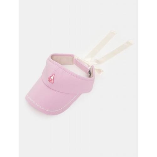 [빈폴골프] 여성 핑크 배색 라인 리본 바이저 (BJ138BA03X)