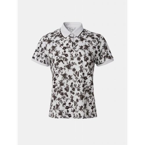 [빈폴골프] 여성 브라운 플라워 패턴 칼라 티셔츠 (BJ1342A12D)