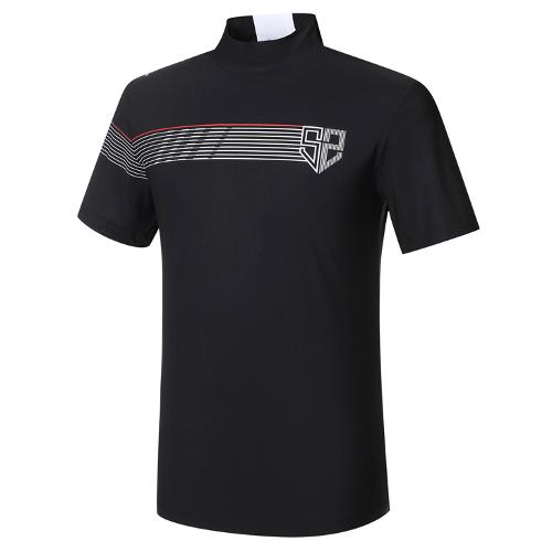 [와이드앵글] 남성 HSS 하프넥 반팔 티셔츠 M WMM21220Z1