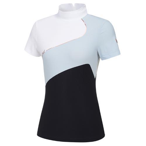 [와이드앵글] 여성 WL 빅Y 하이넥 반팔 티셔츠 L WWM21214N4