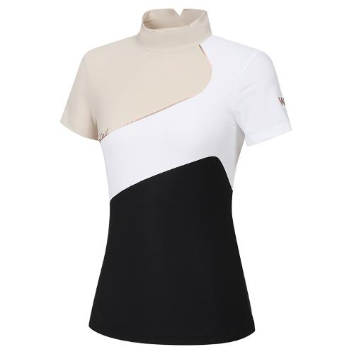 [와이드앵글] 여성 WL 빅Y 하이넥 반팔 티셔츠 L WWM21214Z1