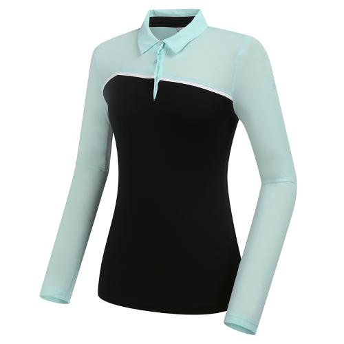 [와이드앵글] 여성 CF W.ICE 보더 긴팔 냉감티셔츠 L WWM21244Z1