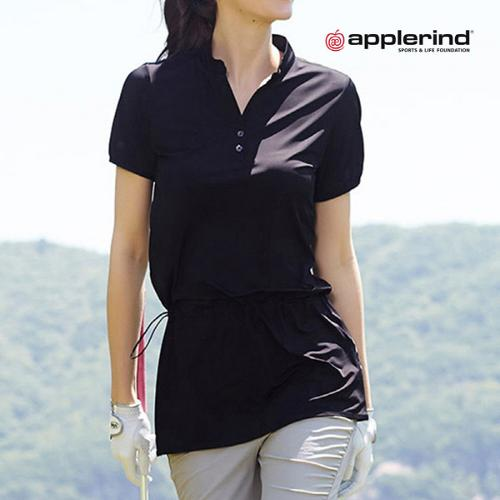 애플라인드 여성 스탠드 카라 롱 티셔츠 (HDR-WTS03)